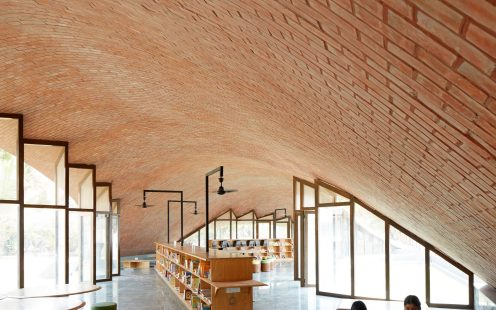 "Maya Somaiya Library; Brick Award 2020 Category ""Building Outside The Box""; Architects: Sameep Padora & Associates, Photo:  Edmund Sumner"