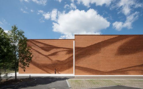 "New Administration Building Textilverband Munster; Brick Award 2020 Category ""Building Outside The Box""; Architects: behet bondzio lin architekten GbmH; Photo:  Thomas Wrede VG Bild-Kunst Bonn"