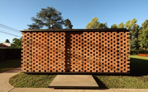 "Experimental Brick Pavillion; Brick Award 2020 Nominee Category ""Building Outside the Box""; Architect: Estudio Botteri-Connell; Photo:  Gustavo Sosa Pinilla"