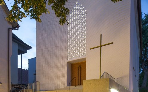 "Auferstehungskirche Ueberlingen; Brick Award 2020 Nominee Category ""Sharing Public Spaces"";  Photo:  Nils Kochem"