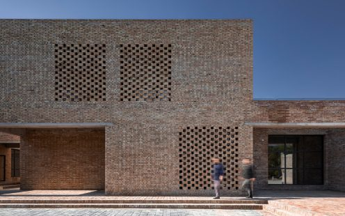 "Village Center in Sanhe; Brick Award 2020 Category ""Sharing Public Spaces""; Architects: Wall Architects, Photo:  Wang Dong"