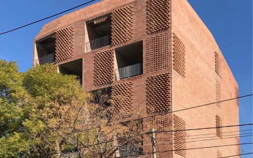 "Edificio Damero; Brick Award 2020 Nominee Category ""Living Together""; Architect: Francisco Cadau, Photo:  Francisco Cadau"