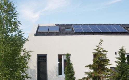e4 house, rooftop photo voltaic system